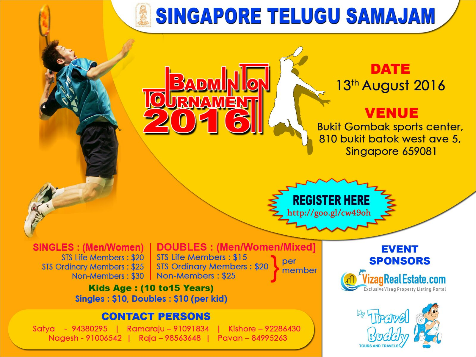 Singapore Telugu Samajam - Badminton Tournament 2016